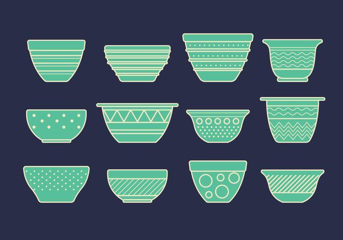 Vector Set van Mixing Bowls
