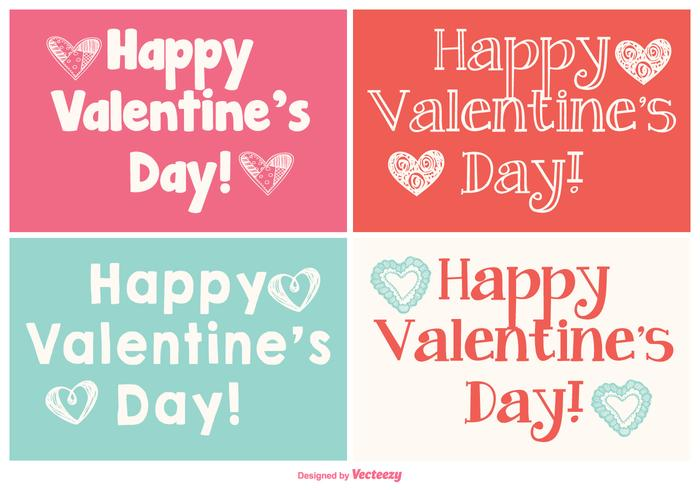 Cute Mini Valentine's Day Cards Collection