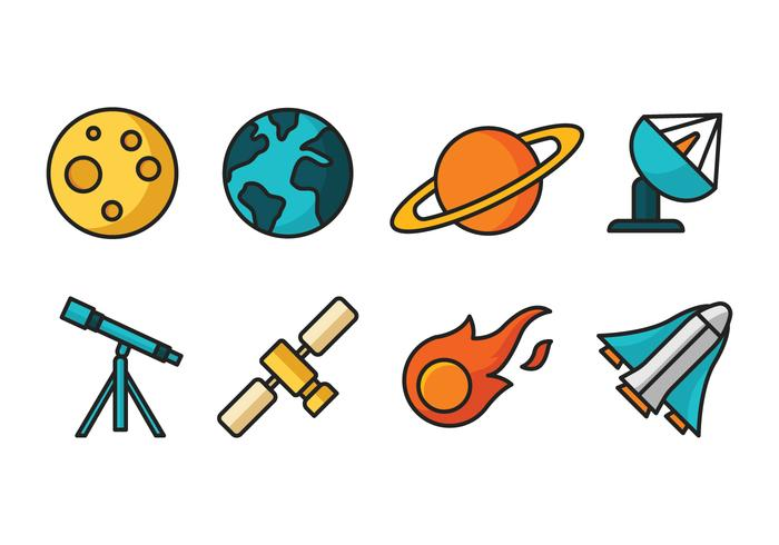 Space Cartoon Icons