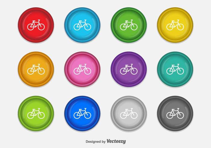 Iconos del vector de la bicicleta