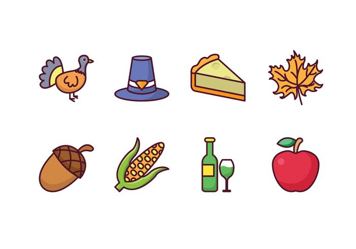 Gratis Thanksgiving Icons vector