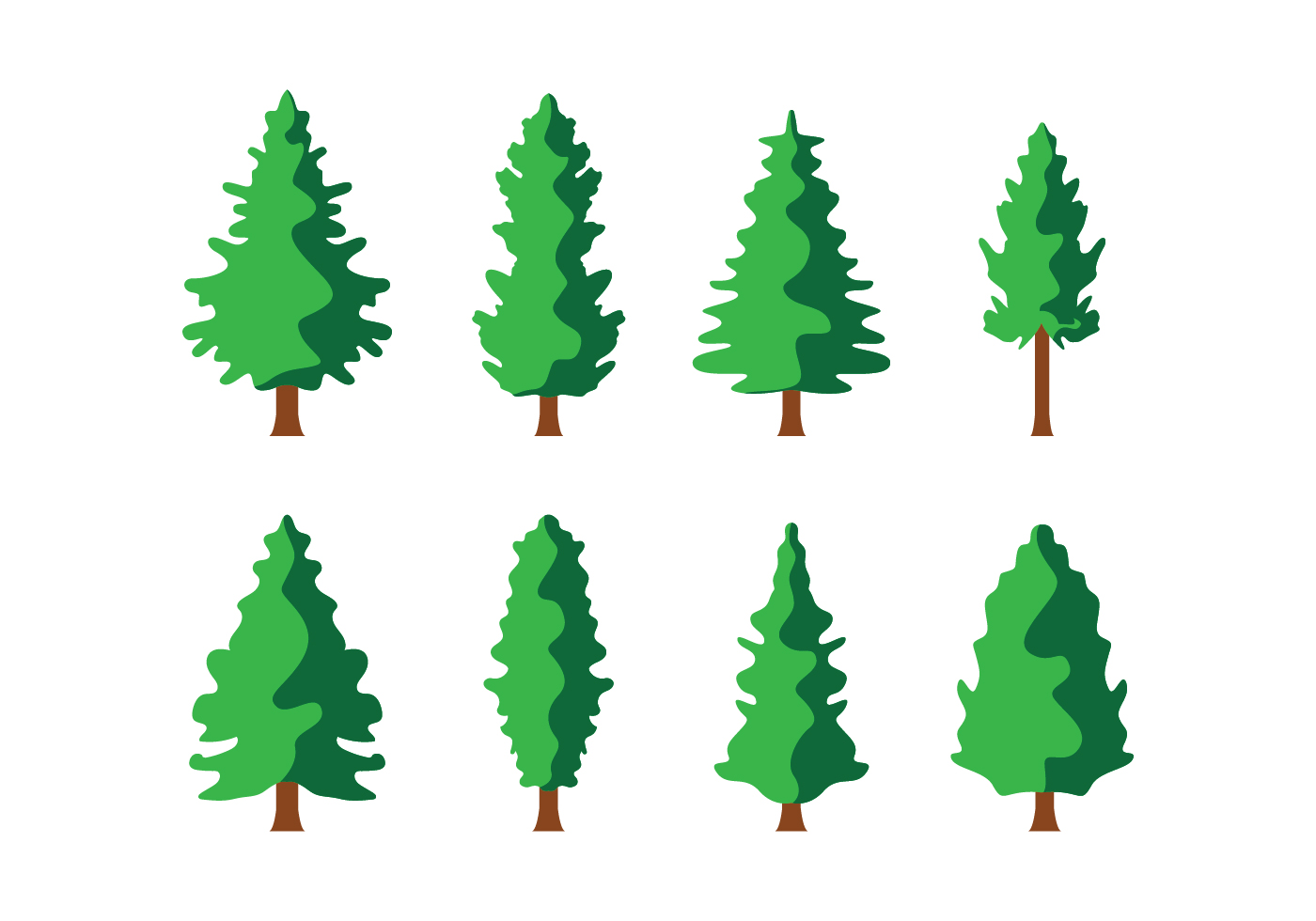 Pine Tree Free Vector Art - (6237 Free Downloads)