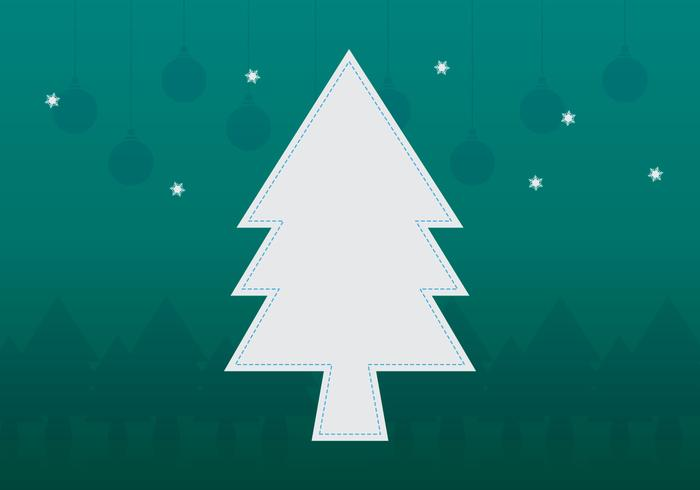 Christmas Tree Frame Template