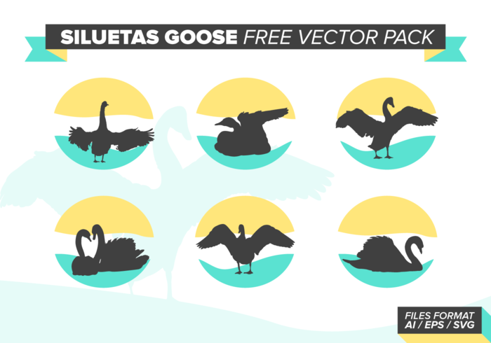 Siluetas Goose gratuito Pacote Vector