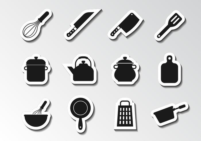 Vector libre Utensilios de cocina Iconos