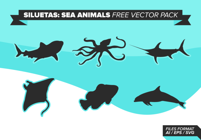 Siluetas Sea Tiere Free Vector Pack