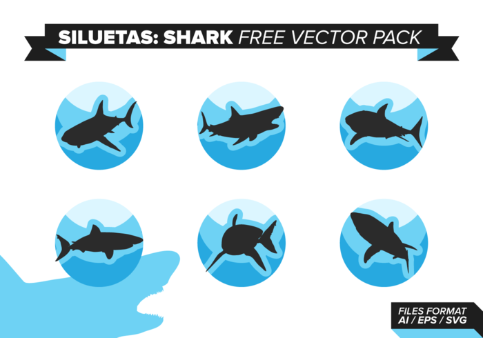 Siluetas Sharks Free Vector Pack