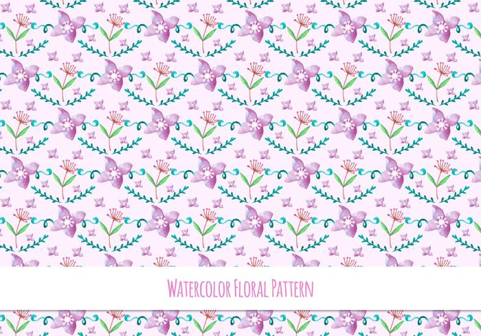 Spring Free Vector Floral Pattern