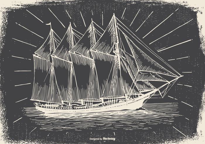 Vintage Ship Illustration