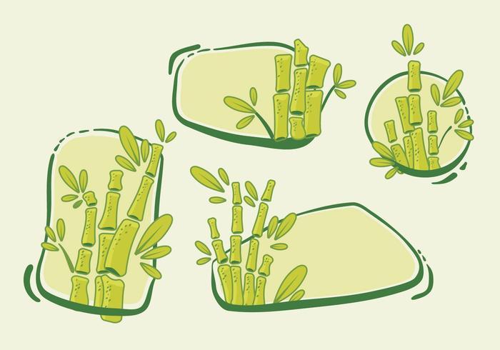 Banner Blank Bamboo Vector Pack