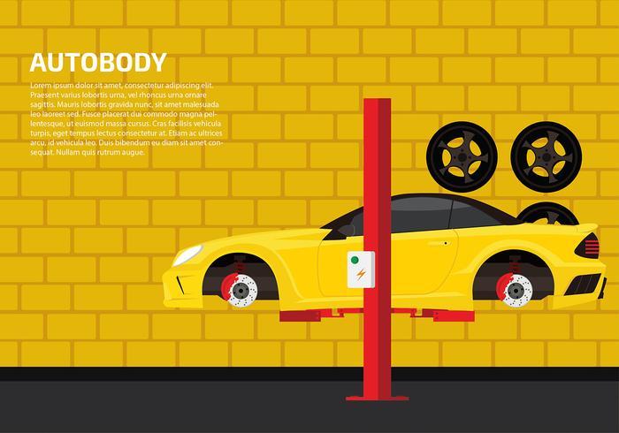 Plantilla auto del cuerpo vector gratuito