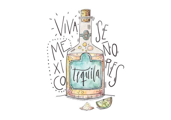 Mexiko Tequila Illustration
