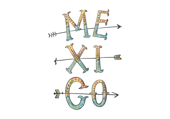 Mexico Lettering Illustration