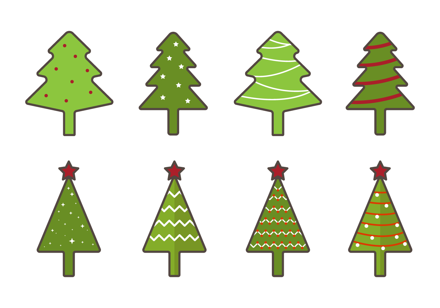 Free Christmas Tree Vector - Download Free Vectors ...