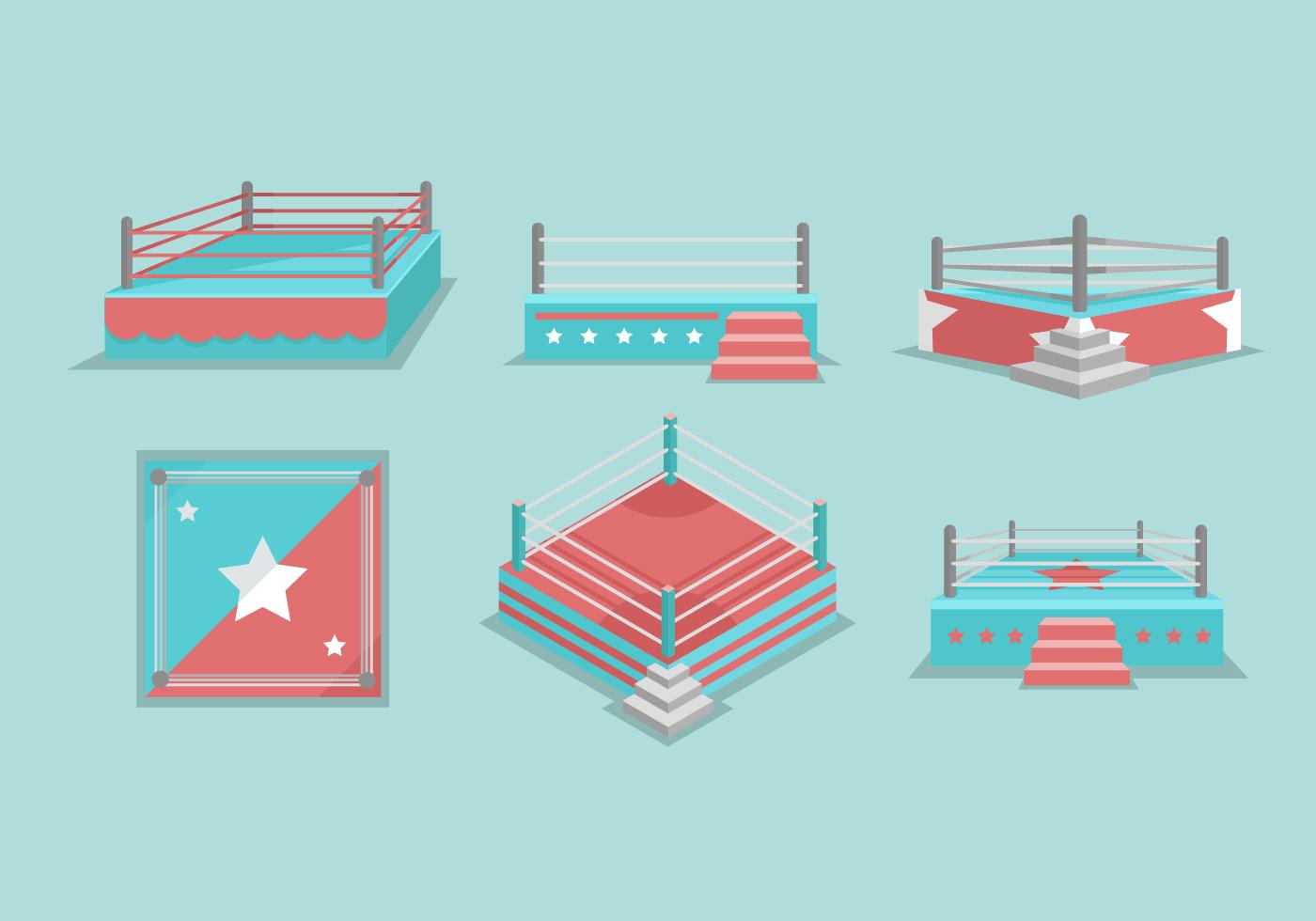 Wrestling Ring Vector Illustration - Download Free Vector ...  Wrestling Ring ...