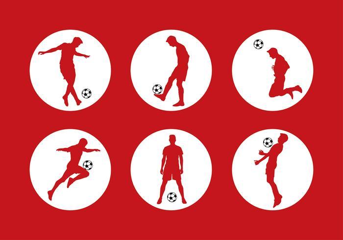 Siluetas Soccer Free Vector