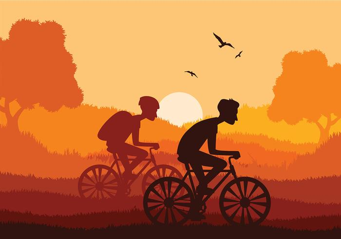 Bicicleta Together Free Vector