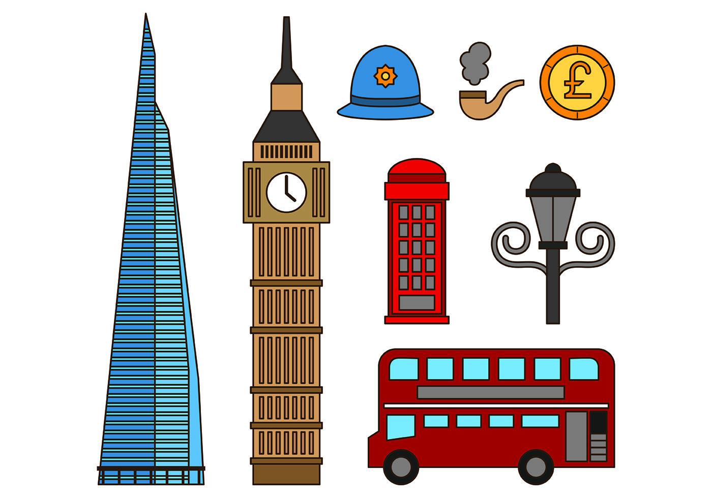 Лондон картинки мультяшные