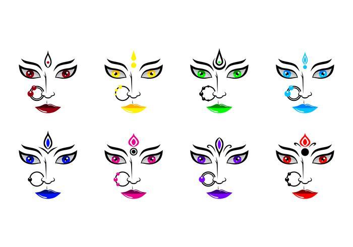 Free Durga Icon Vector
