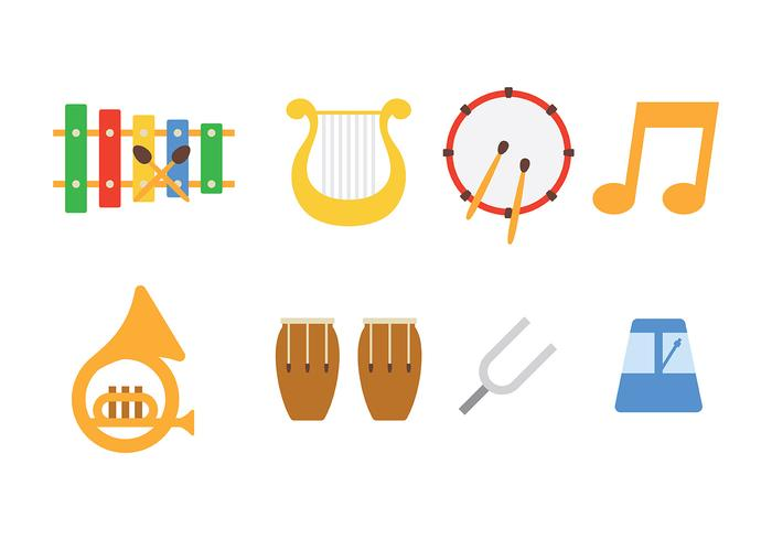 Music Instrument Icon Pack Vector
