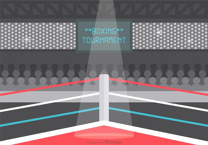 Free Vector Wrestling Ring Illustration