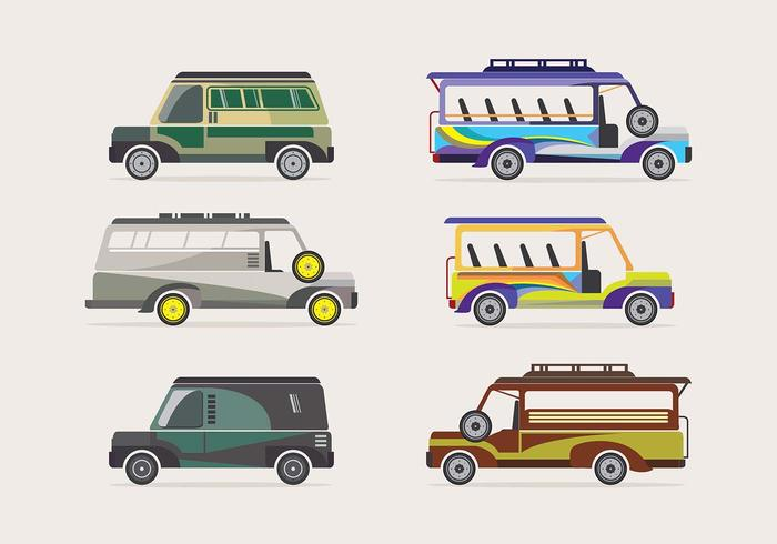 Jeepney transportation vector