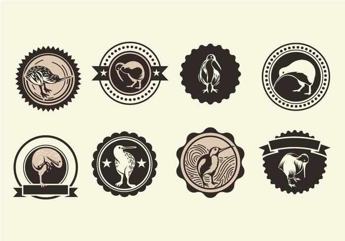 Uppsättning av Kiwi vektor ikoner
