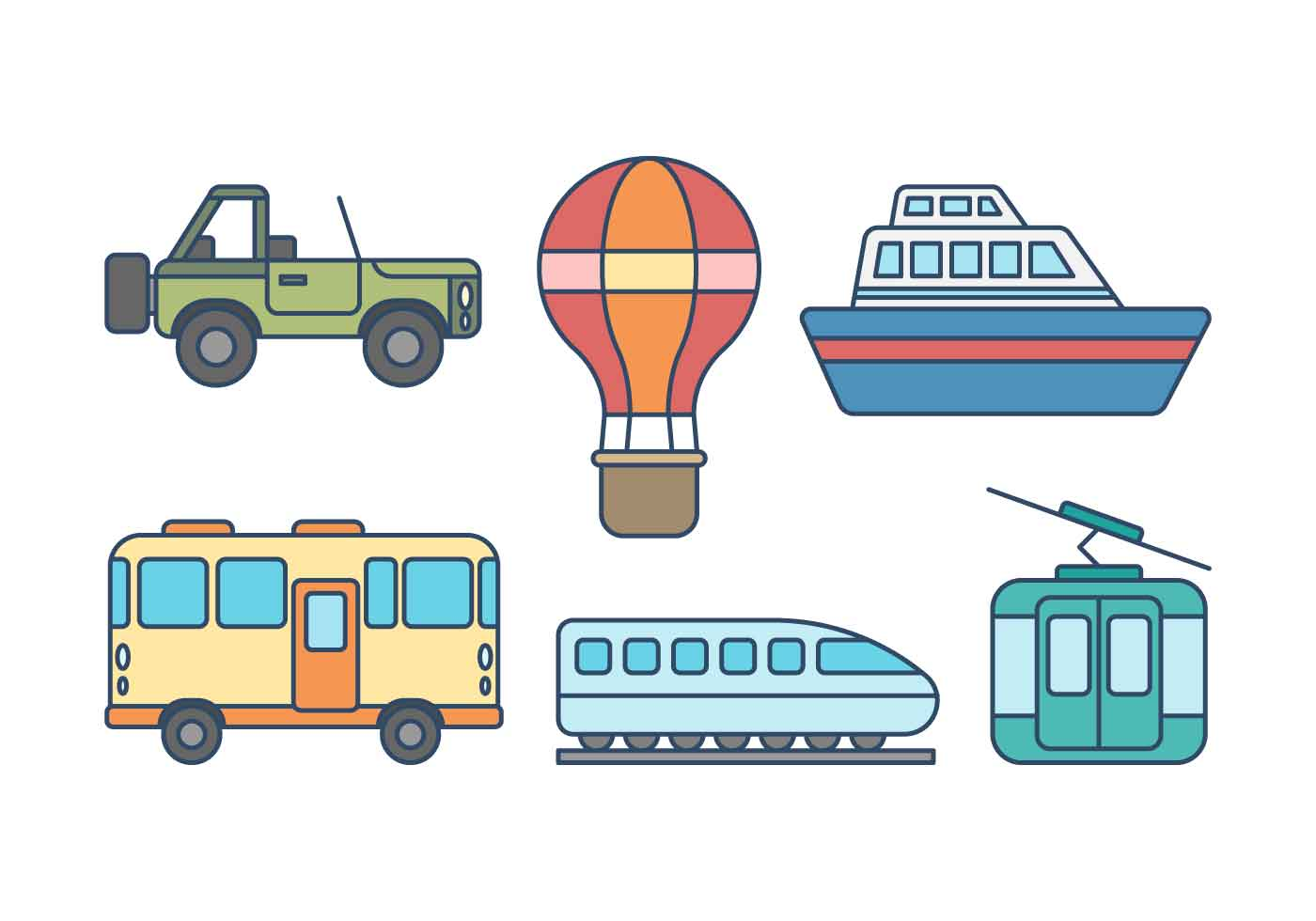 Free Transportation Vector