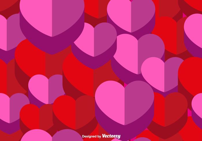 Vector 3d Herz nahtlose Muster