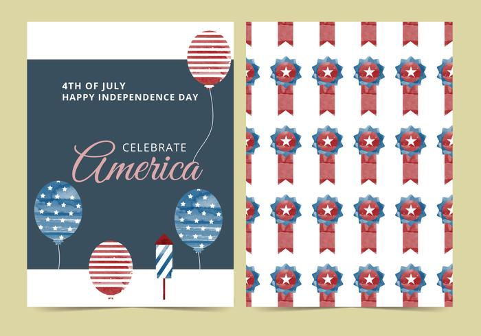 Vector 4th of July Card