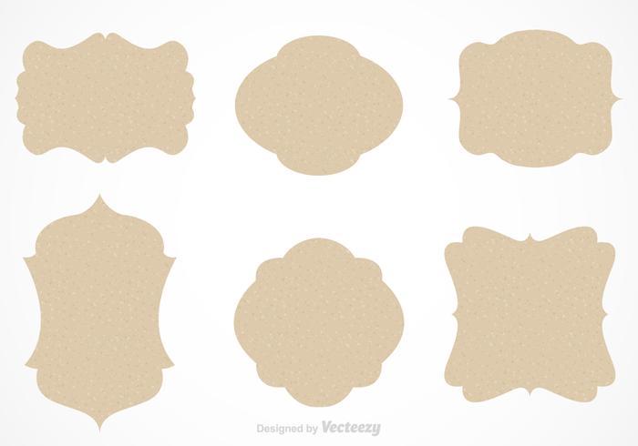 Papier Silhouette Cartouche Vector Set