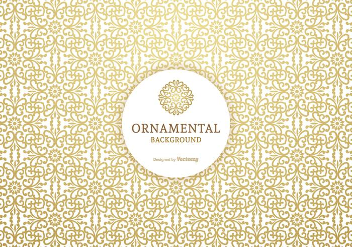 Golden Ornamental Vector Background