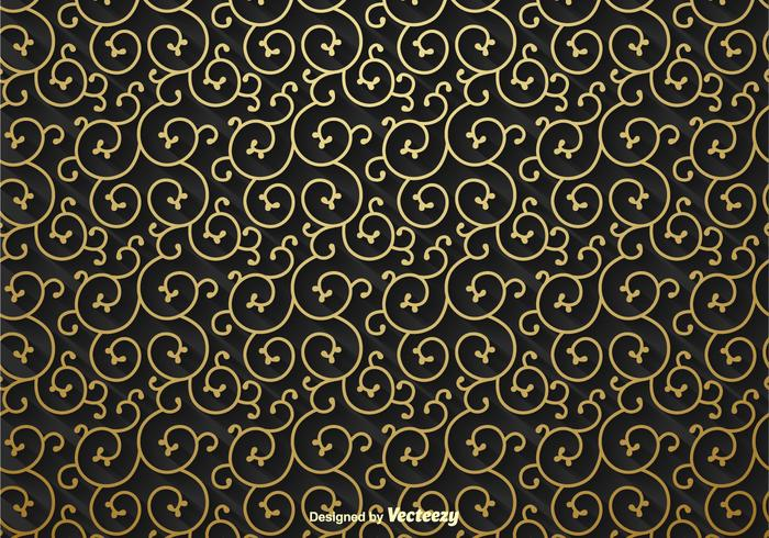 Goldene Scroll Vektor Hintergrund