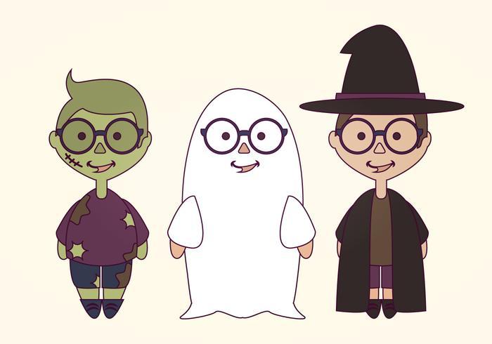 Vector Halloween kostymer