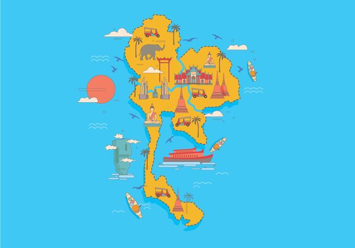 Bangkok Kaart Vector