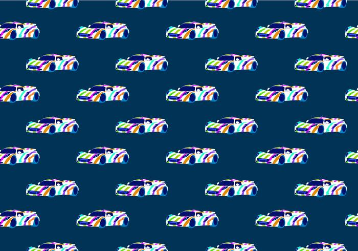 Free auto body seamless pattern vector illustration