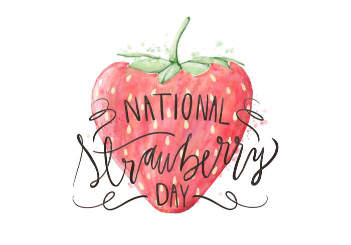 Strawberry Day Illustration