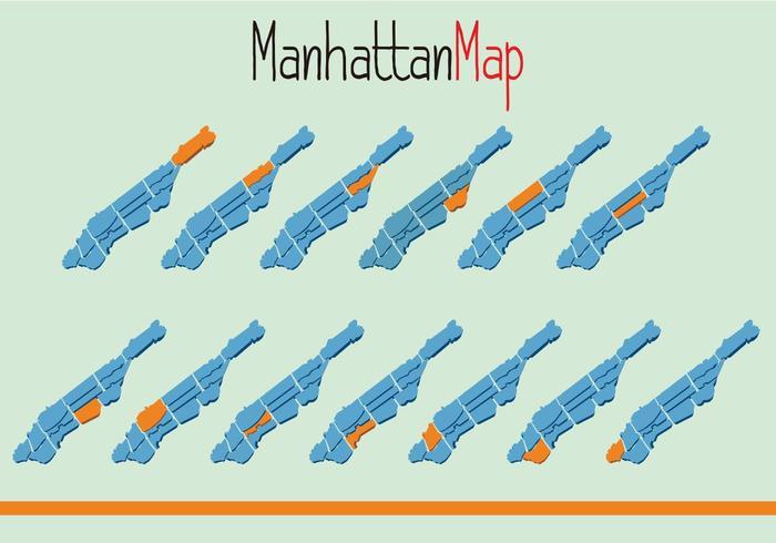 Vecteur de Manhattam Map