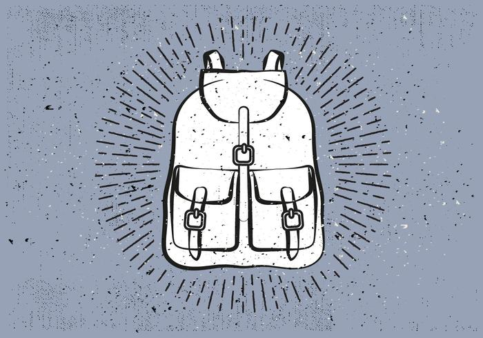 Free Hand Drawn Travel Bag Vector Background