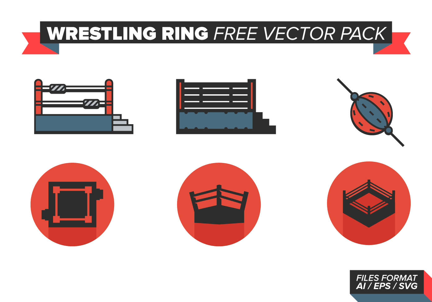 wrestling ring free vector pack download free vector art