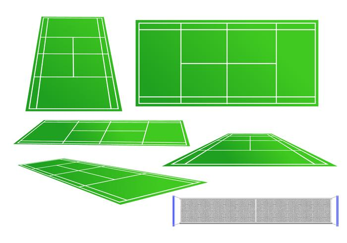 Tennis Court Vector Set