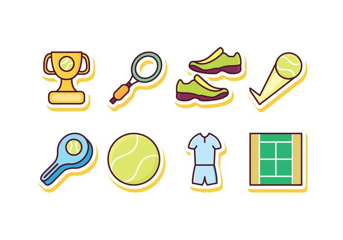 Free Tennis Icon Set vector