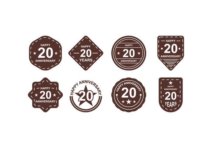 Libre Aniversario Badges