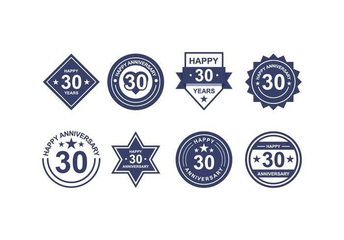 Libre Aniversario Badges vector