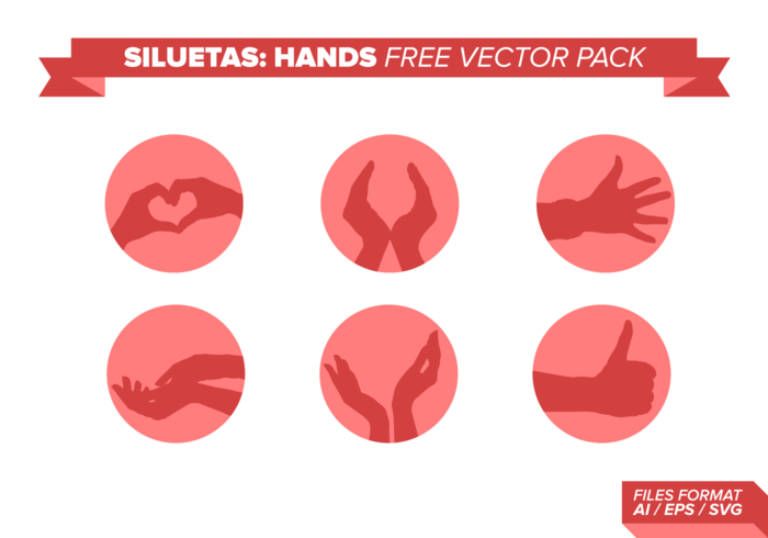 Siluetas Hands Free Vector Pack