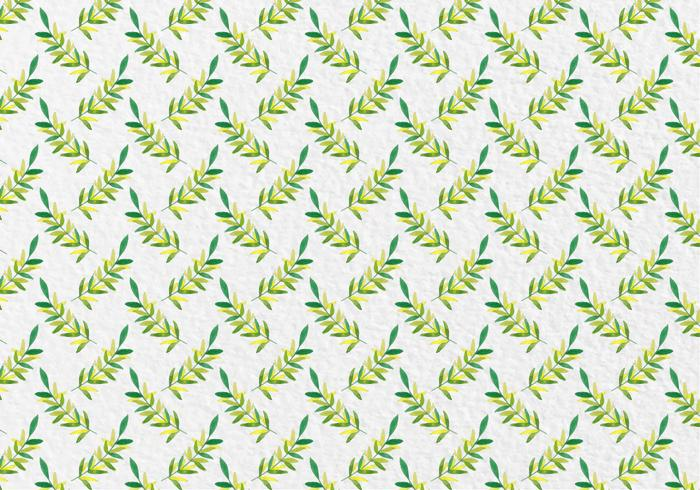 Free Vector Watercolor Leaves Seamless Pattern