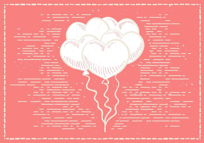 Free Hand Drawn Valentines Vector Background