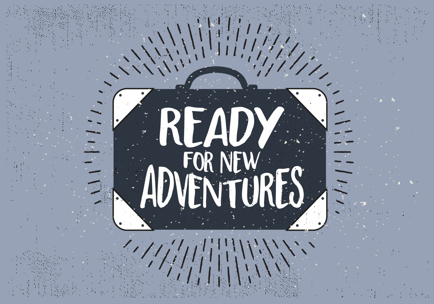 Free Hand Drawn Travel Suitcase With Typography - Download ...