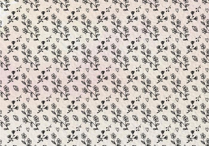 Vector libre mano dibujar patrón floral