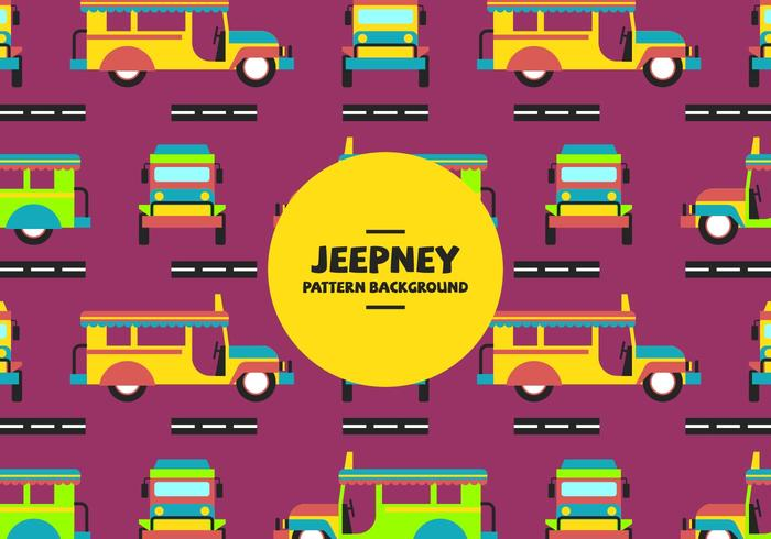 Jeepney Pattern vector